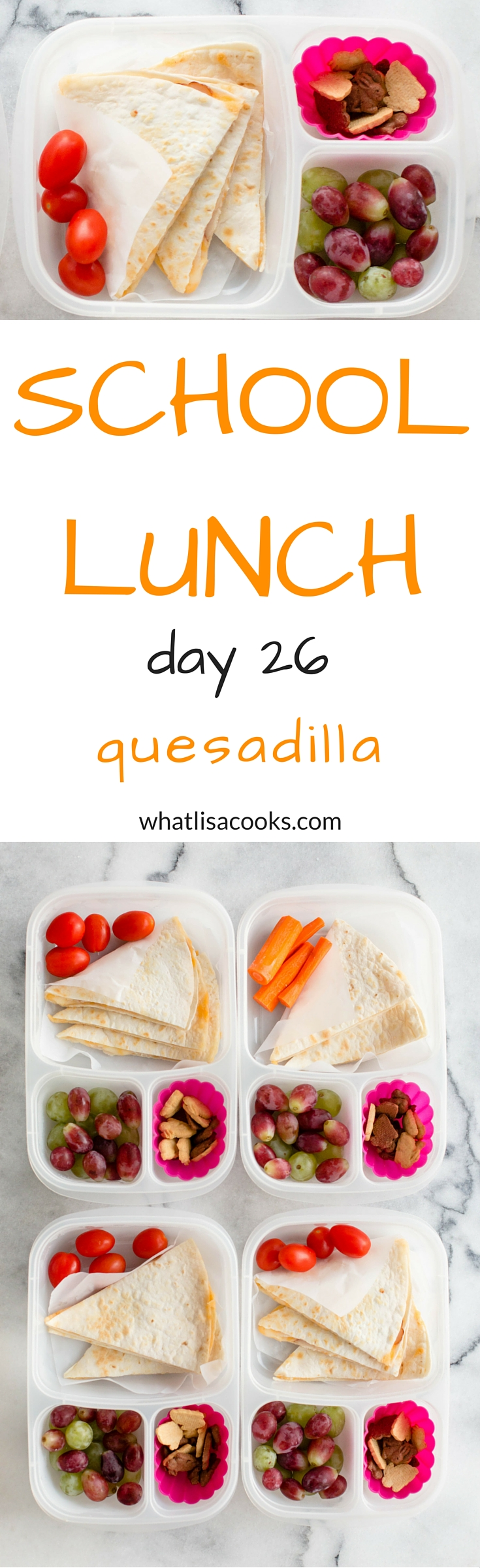 easy school lunch idea from whatlisacooks.com - quesadillas made the night before school.