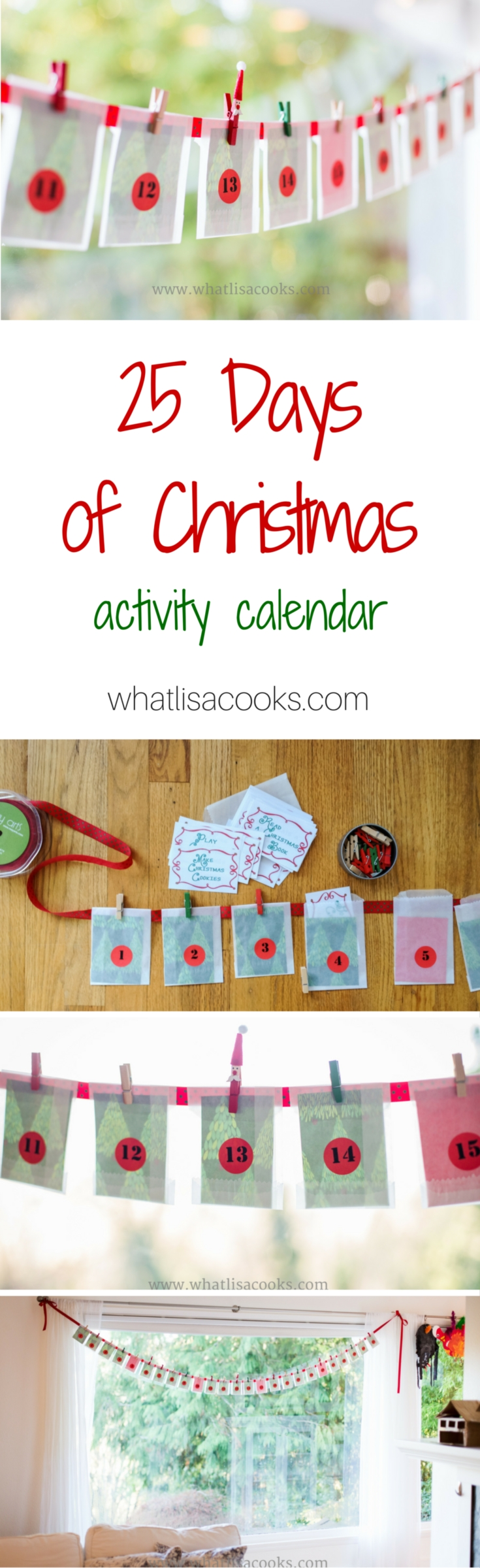 Easy homemade Christmas advent activity calendar idea - from whatlisacooks.com