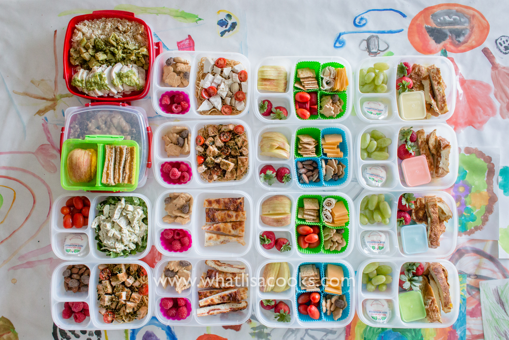 16 lunches packed and ready to go - by WhatLisaCooks.com