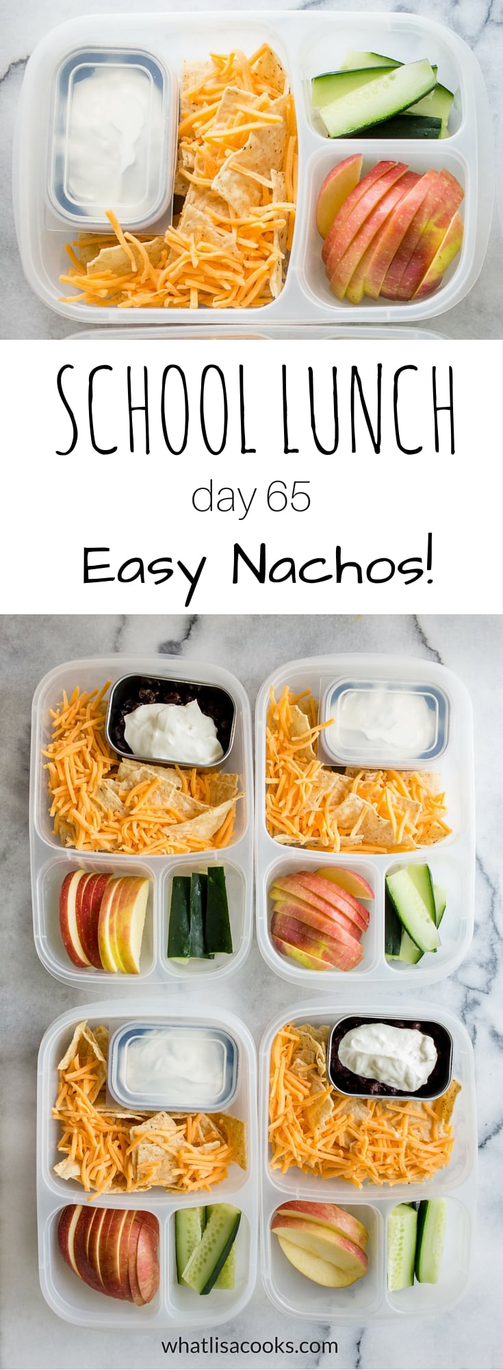 A super easy school lunch from WhatLisaCooks.com that the kids will love.