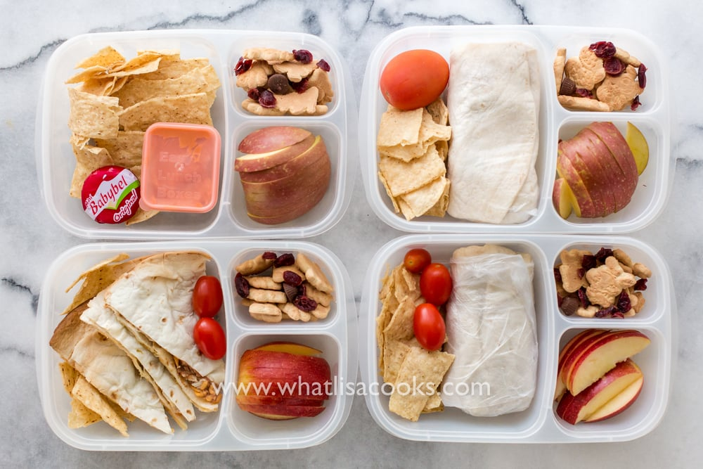 Burritos for school lunch - from WhatLisaCooks.com