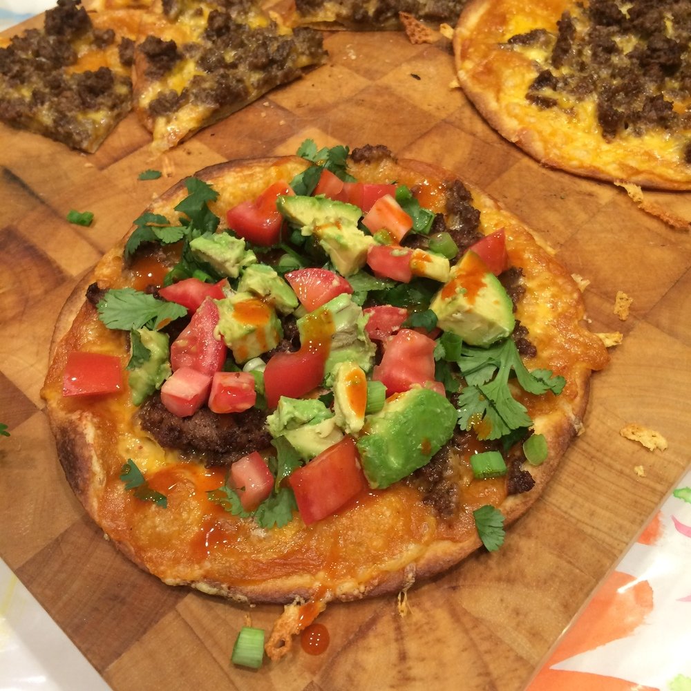 taco pizza from WhatLisaCooks.com