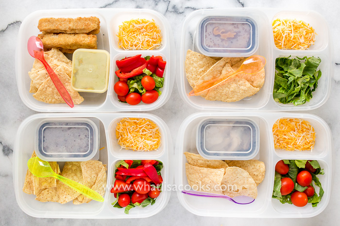 easy school lunch idea - taco tuesday leftovers
