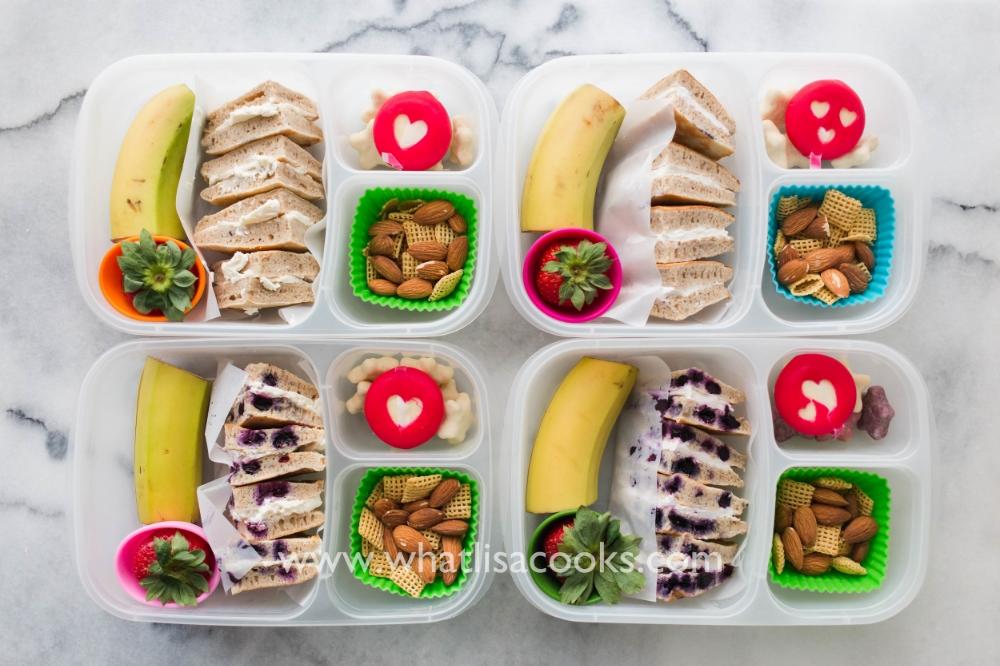 A kid favorite lunch box - pancake sandwiches!