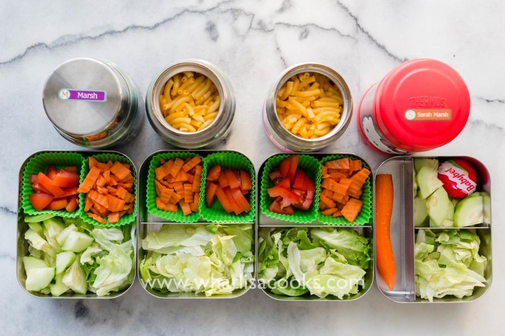 Comforting mac & cheese and a healthy salad