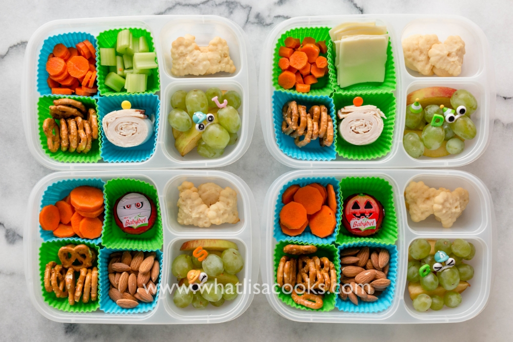 Simple snack box with homemade lemon cookies