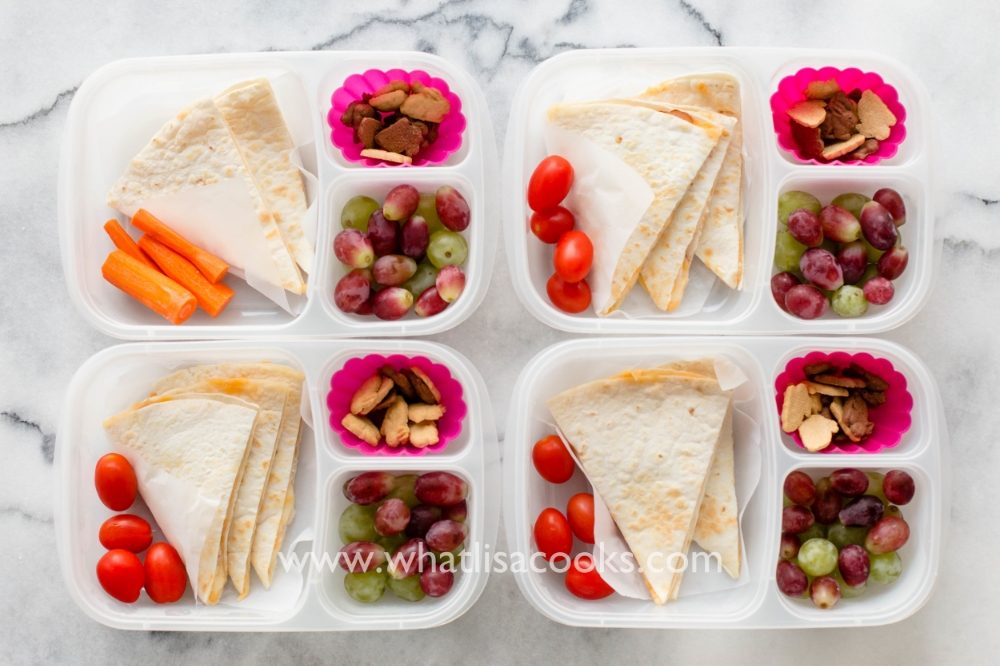 A simple quesadilla lunch