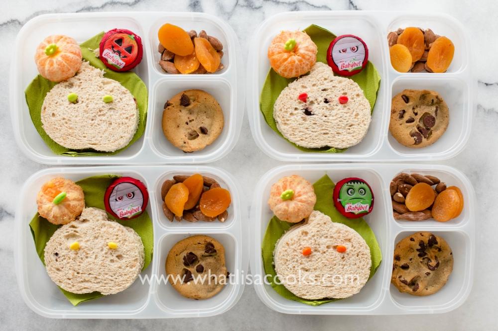 Easy pumpkin shaped sandwiches