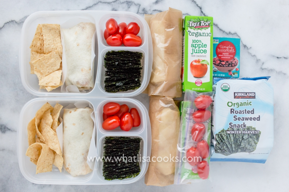 Bean & Cheese Burritos - packed to-go for a field trip.