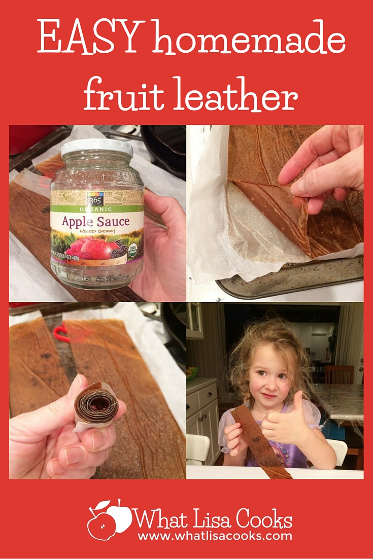 no more store bought fruit leathers for us - this is so easy!