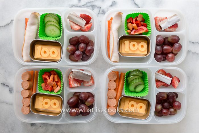 100th day of school lunch - from whatlisacooks.com