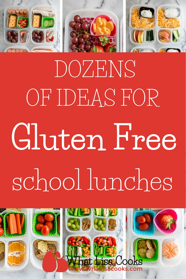 Dozens of ideas for gluten free school lunch packing - from whatlisacooks.com