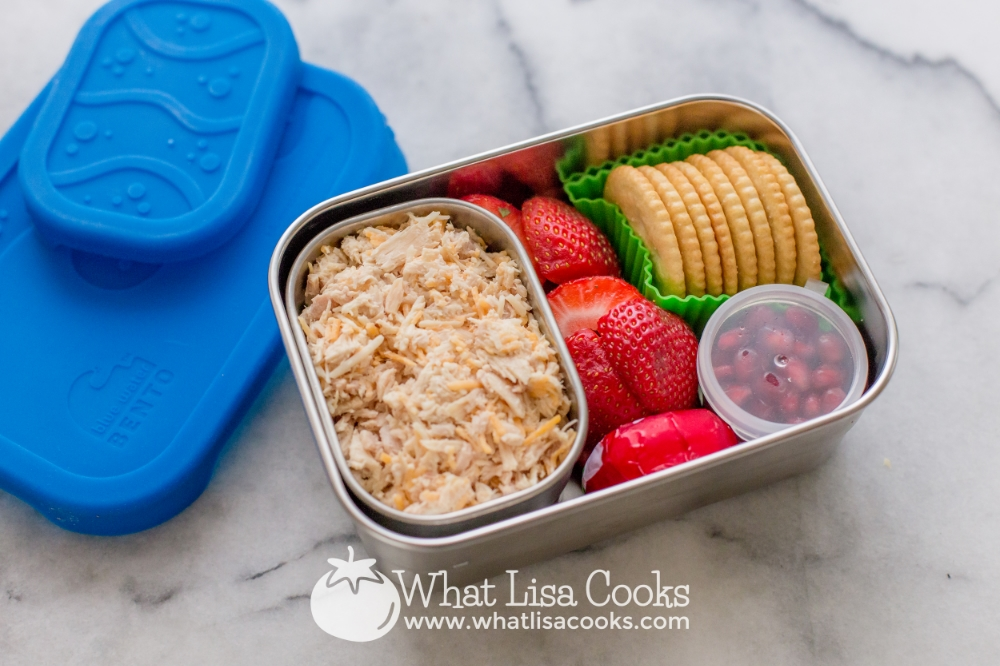 Simple tuna & cracker lunch from WhatLisaCooks.com