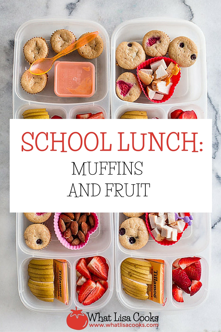 Make school lunch packing easy with muffins from the freezer! from WhatLisaCooks.com