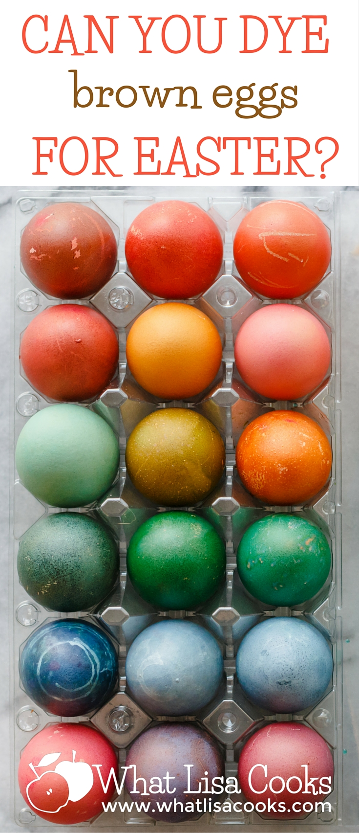 How to dye brown eggs for easter! from WhatLisaCooks.com