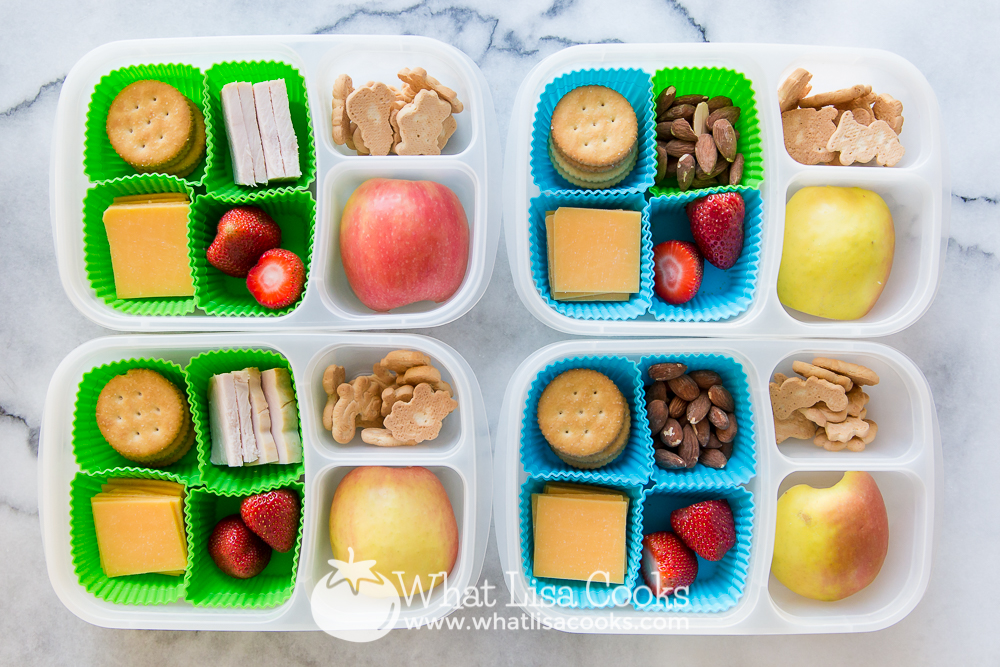 Simple bento lunchbox from WhatLisaCooks.com