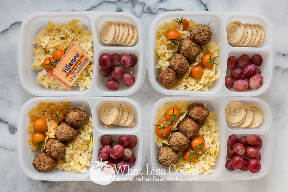 Meatballs and pasta for school lunch: WhatLisaCooks.com