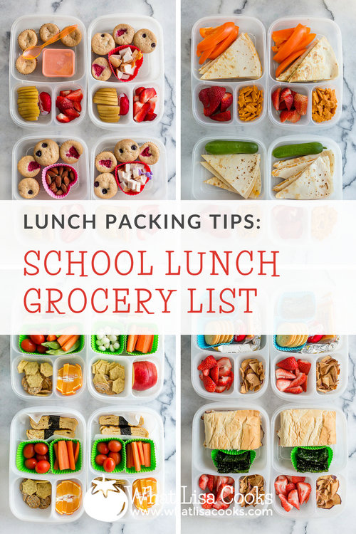 School Lunch Grocery List — What Lisa Cooks
