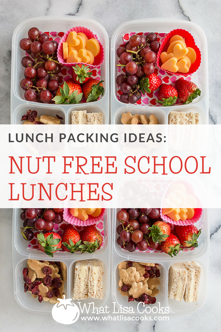 Nut free lunch ideas, and nut free lunch packing tips, from whatlisacooks.com