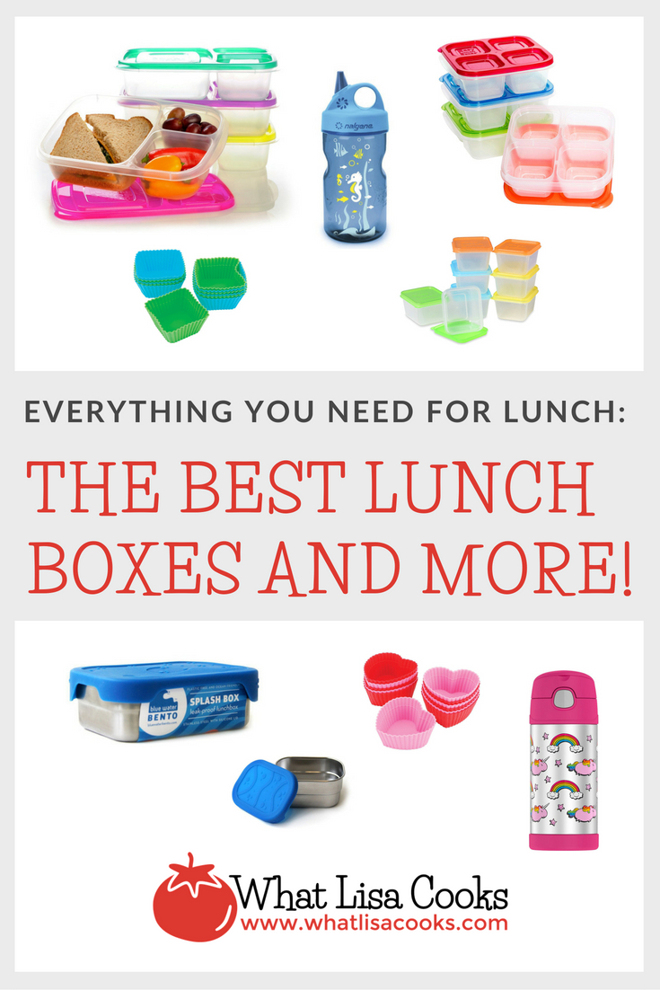 Everything you need  for school lunch packing - all the best lunch boxes and more - from WhatLisaCooks.com