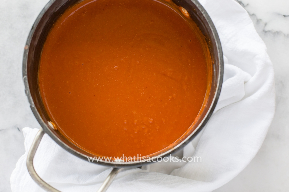 not spicy homemade enchilada sauce | whatlisacooks.com