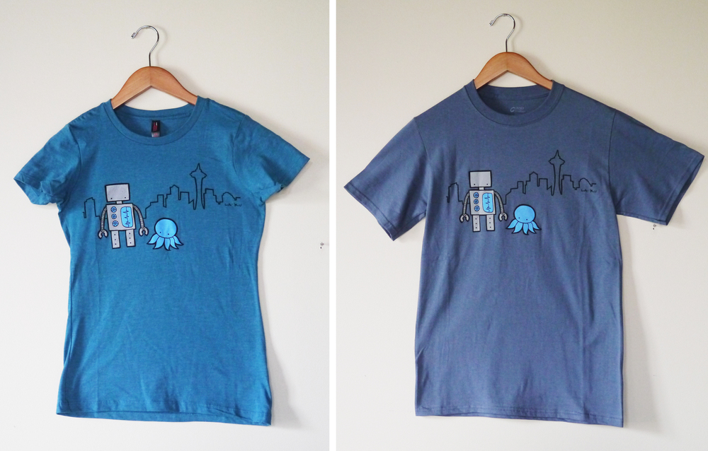 Seattle Robot Shirts