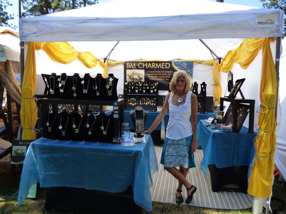 MY BOOTH AT ART ON THE GREEN IN COEUR D'ALENE IDAHO