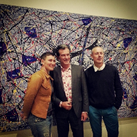 AGNSW Instagram -  Our all-star cast for tonight's celebrity event. Thank you to Richard Morecroft, Emma Ayres and Martin Tighe! #artafterhours #archibald2014