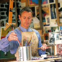 Martin Tighe in his studio
