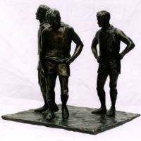 Victory and Defeat Bronze Sculpture