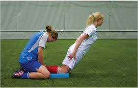 Demonstration of the Nordic Curl exercise.                             Picture courtesy aspetar.com
