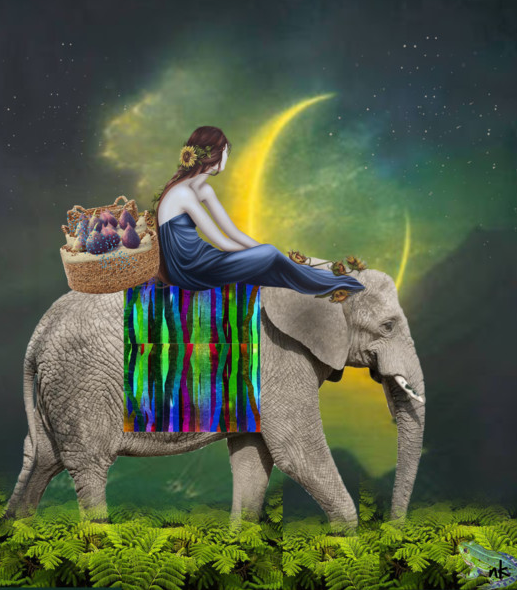 Beth On Her Way/collage art by naomi khan