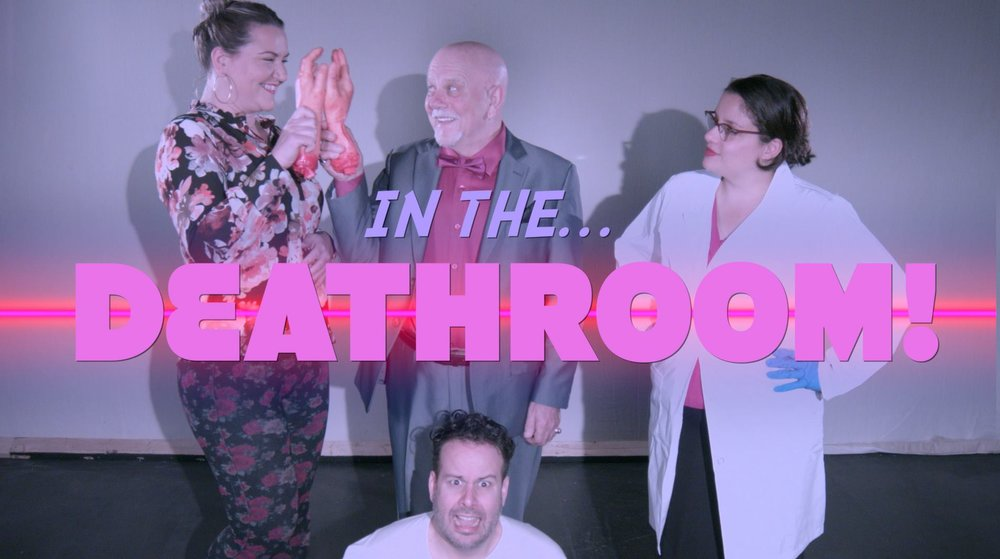 Screenshot from the opening sequence of In the Deathroom.