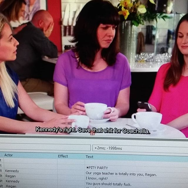 Working on subtitles, because dialogue like this should be accessible to everyone... ;) . . . #bcfilm #indiefilm #independentfilm #filmmaking #filmmaker #womeninfilm #horror #womeninhorror #comedy #productionlife #bts #featurefilm #yyj #yyjarts #PityPartyMovie #yesitookapictureofmymonitor