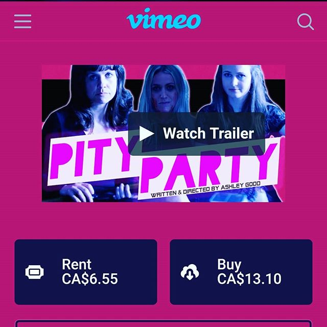 Looking for plans this weekend? Check out the movie this account has been pushing for a year and a half. ;) Pity Party is now available on @vimeo On Demand! Link in bio. . . . #pitypartymovie #bcfilm #indiefilm #independentfilm #vimeo #vimeoondemand #yyjarts #featurefilm #comedy #horror #womeninfilm #setlife #productionlife