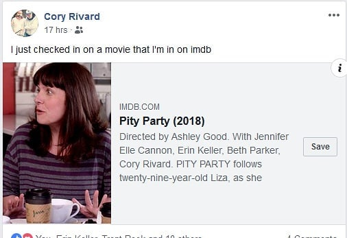 It's official! Watch Pity Party for yourself through @vimeo On Demand tonight. :) . . . #bcfilm #indiefilm #independentfilm #filmmaking #filmmaker #womeninfilm #comedy #feature #featurefilm #yyj #yyjarts #watchlocal #watchindie #supportindiefilm #PityPartyMovie