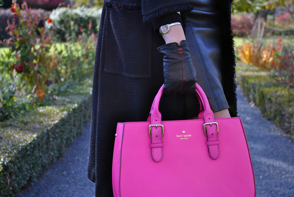 Hot Pink and Leather - Garden Stroll - Thoughtfulwish