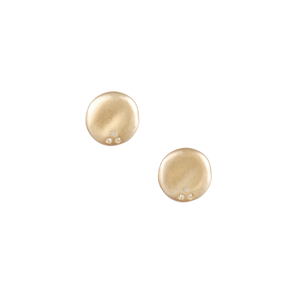 Sculpted Circle Stud Earrings    $22