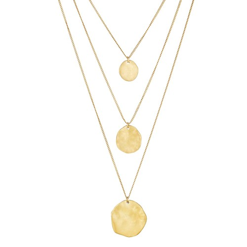 Three Row Paillette Graduated Pendant    $48