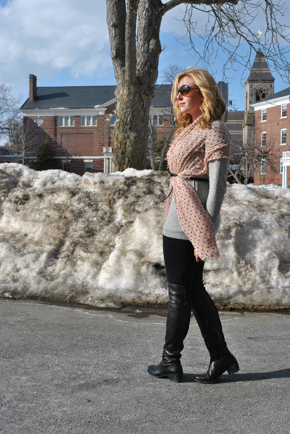 Winter Essentials to Springtime, wool overs sweater with leggings | thoughtfulwish