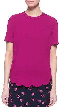 A.L.C. Short-Sleeve Scalloped-Hem Top $365