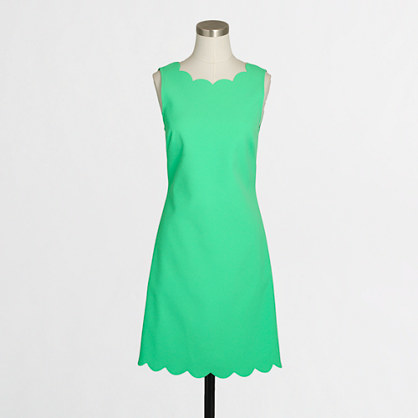 Factory scalloped trim dress