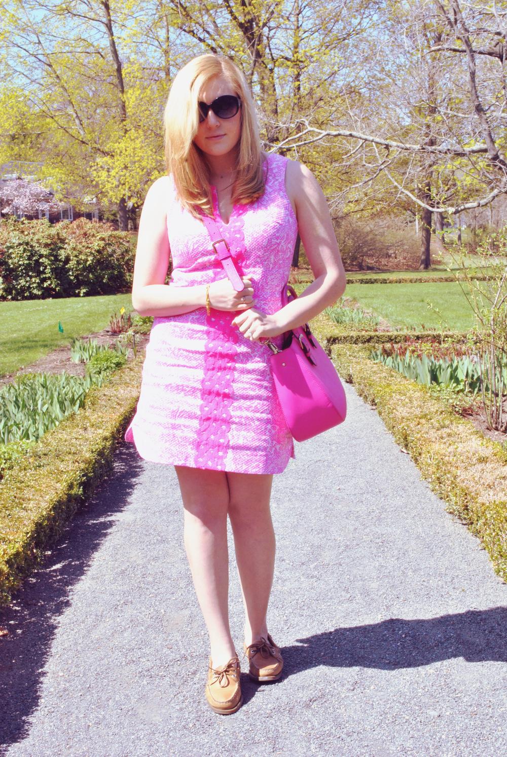 Pink dress // lilly pulitzer // summer // fashion photography | thoughtfulwish