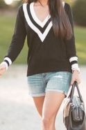 Black V Neck sweater $16.90