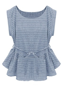 Light Blue peplum blouse $13.90