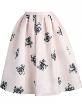 Pink Rose Silky Skirt $19.90