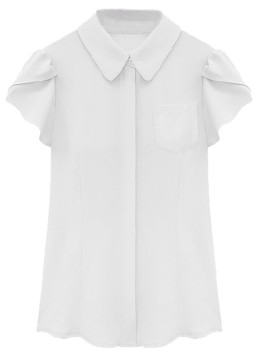white ruffle shirt $9.90
