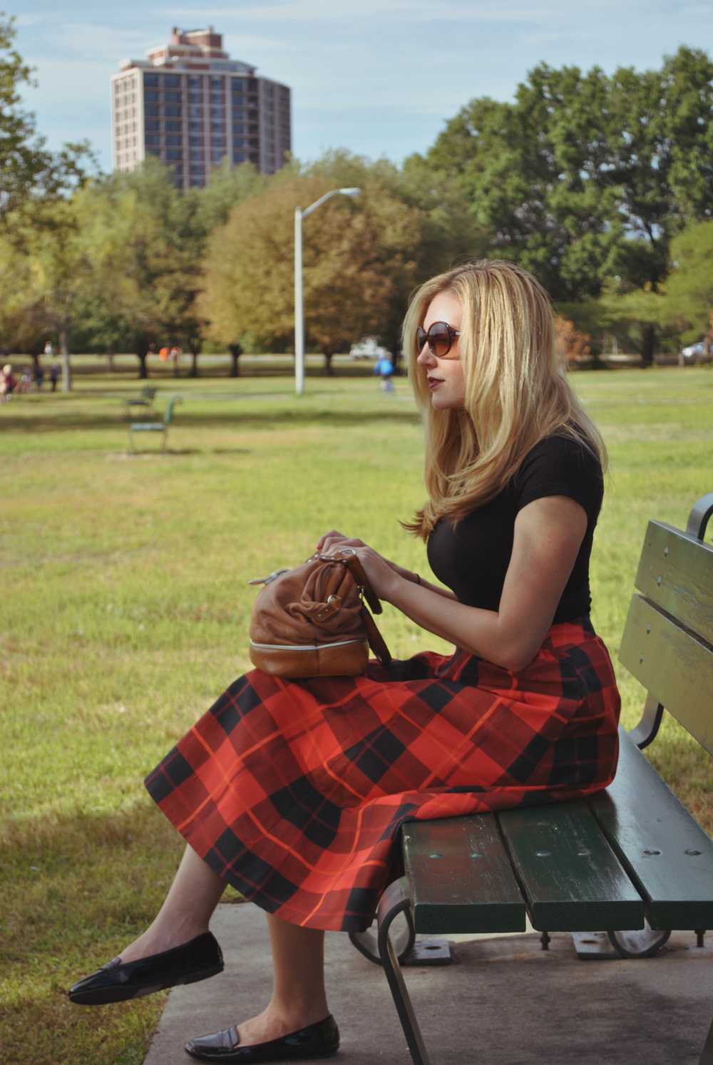 thoughtfulwish | preppy // fall outfit // fall fashion // red plaid // plaid skirt // kate spade