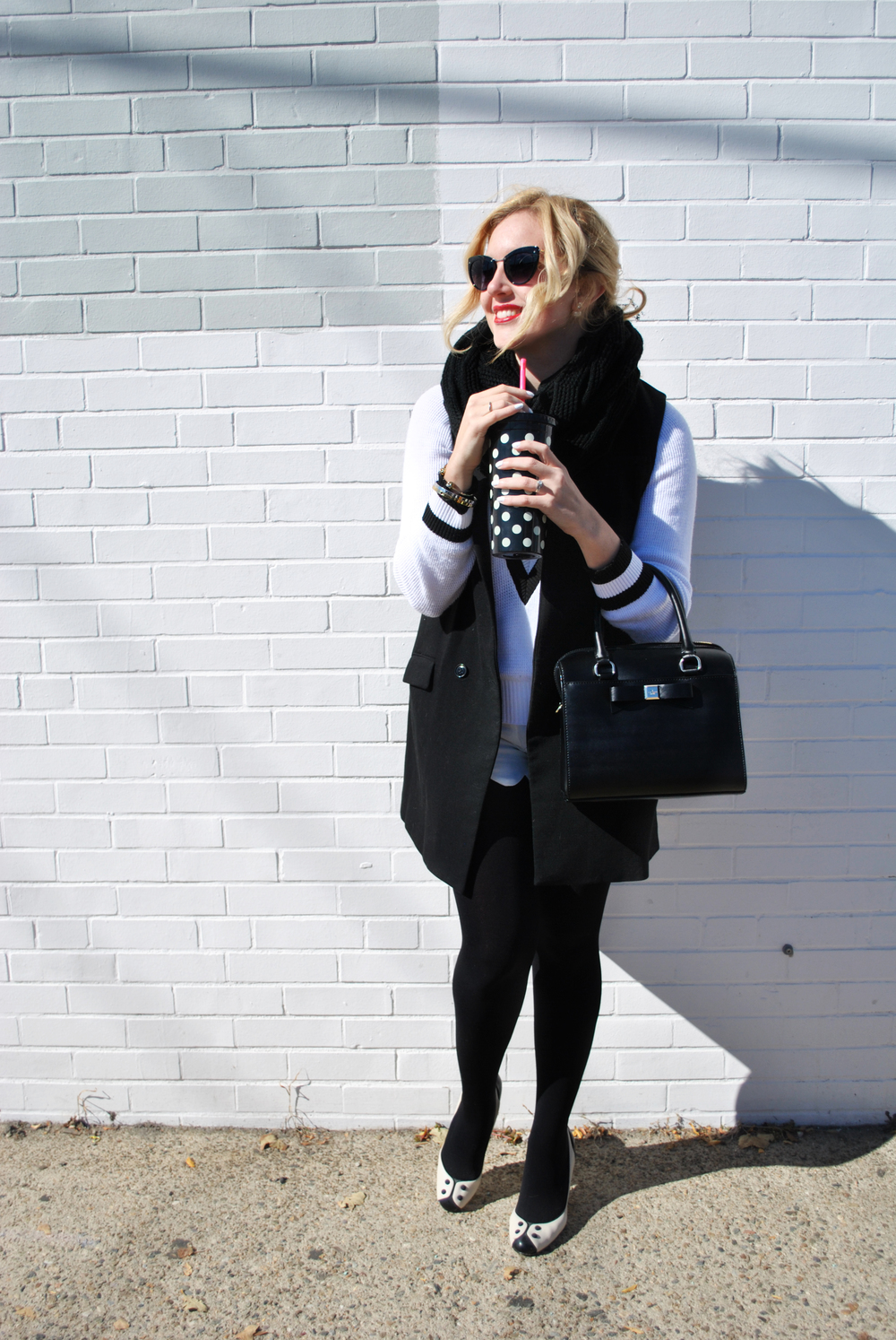 thoughtfulwish | kate spade // kate spade muse // fashion muse // black and white outfit // fall fashion // indian summer outfit // fashion blogger // boston fashion blogger