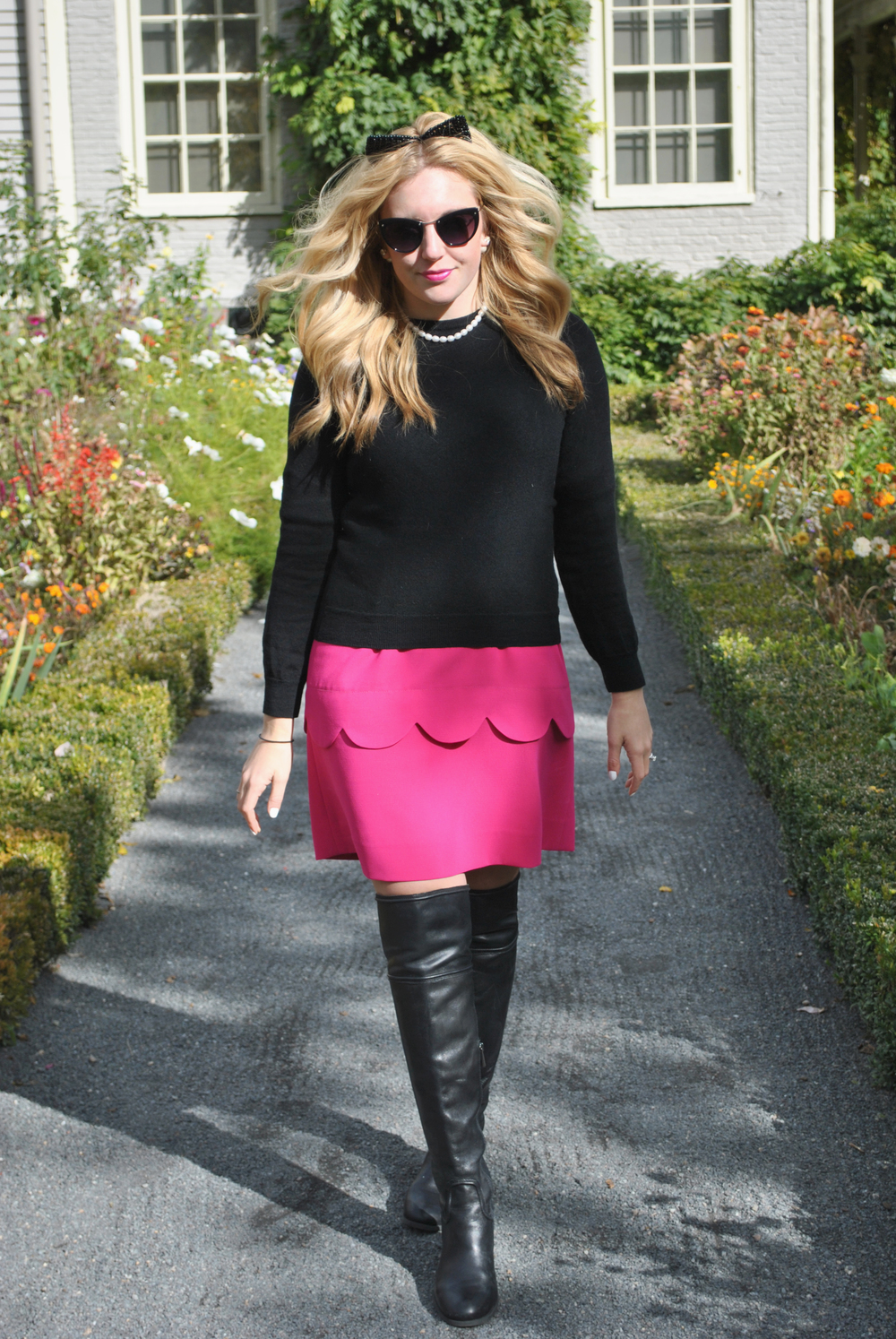 thoughtfulwish | ootd // pink dress // dress and sweater // adopt a cat // cat ears // cat sunglasses // fashion // boston fashion blogger // boston fashion // new england fashion